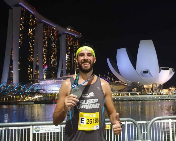Borja Rivas, Media Maratón Singapure
