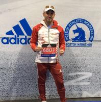 Marcos Bragado, Maratón de Bostón